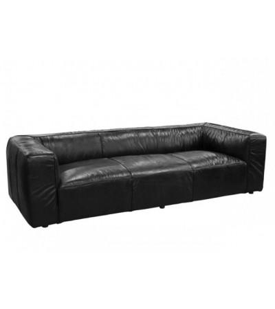 "Sofa ""Lancaster"" schwarz Leder 3 sitzer"