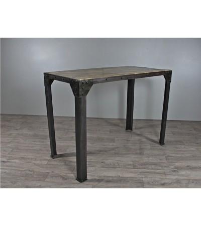 """Table Haute de Repas """"Rivets"""" 120 cm"""