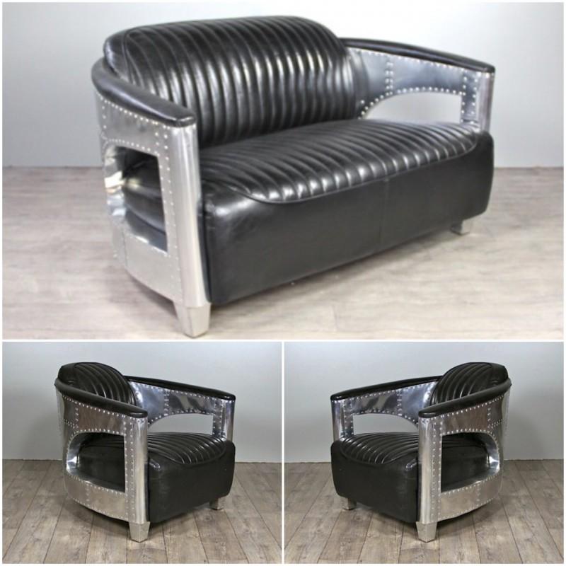 canape 2 places et ses 2 fauteuils aviateur cuir noir vintage Résultat Supérieur 49 Unique Canape Cuir Style Vintage Photographie 2017 Lok9