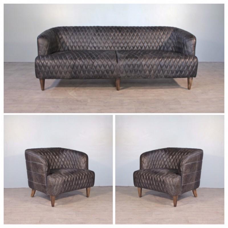 canape 3 places avec ses 2 fauteuils club cuir gris Résultat Supérieur 50 Incroyable Fauteuil 3 Places Stock 2017 Shdy7