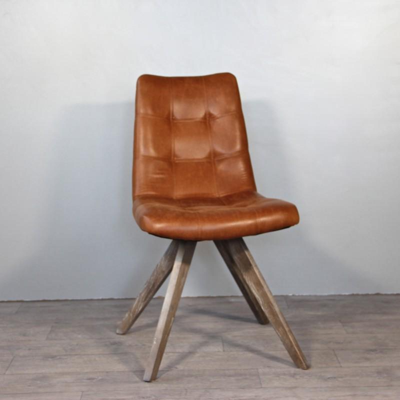 annuler - Chaise Cuir Vintage