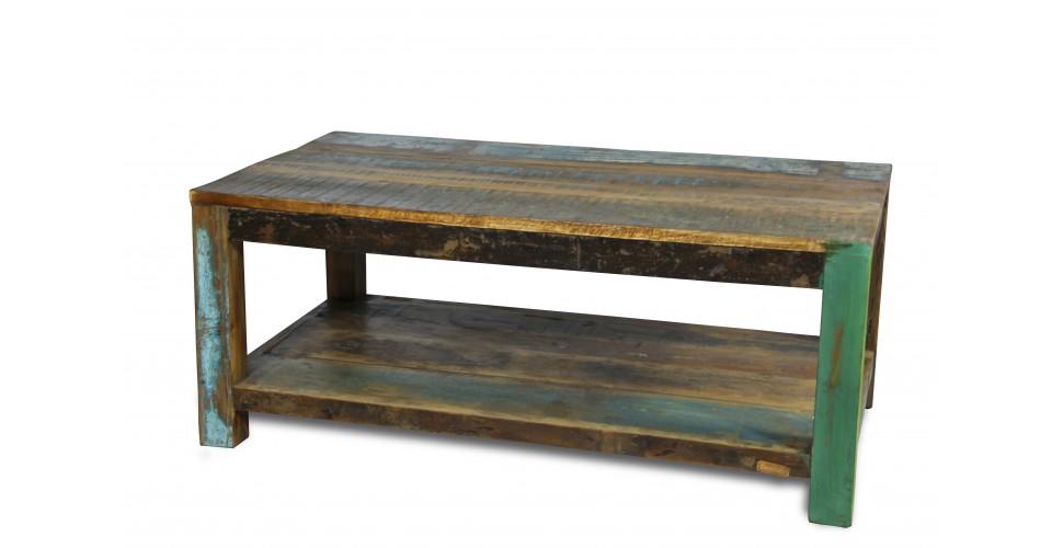 """Table Basse """"Manoir"""" bois massif coloré"""