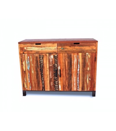 "Buffet vintage en bois recyclé ""Arizona"" design industriel"