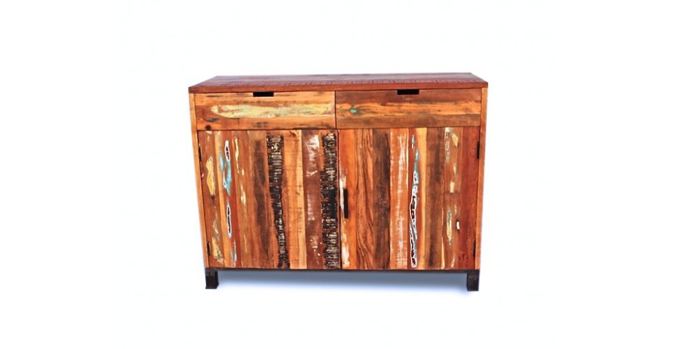 Buffet bois recyclé coloré ARIZONA