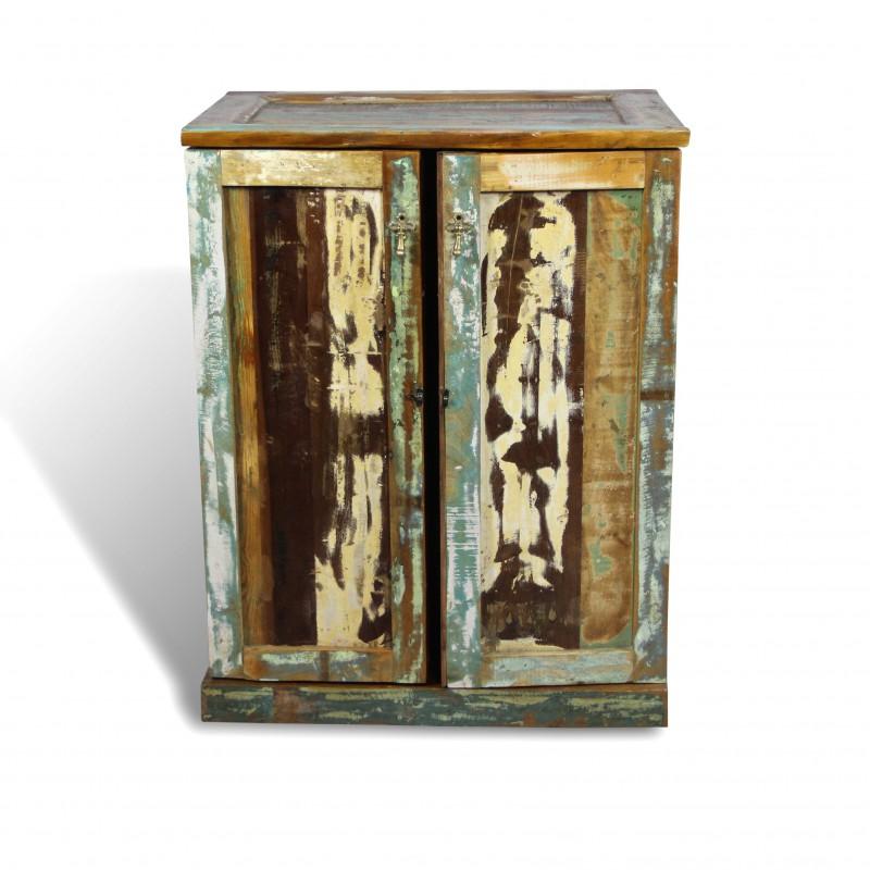vintage bar m bel in recycelt bunten holzboot industrie stil. Black Bedroom Furniture Sets. Home Design Ideas