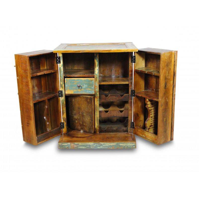meuble de bar vintage bois de bateau color recycl style industriel. Black Bedroom Furniture Sets. Home Design Ideas