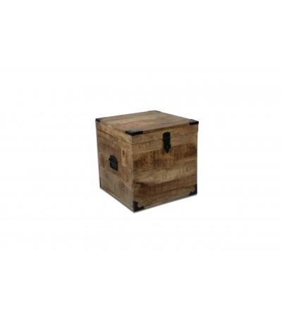 """Coffre vintage en bois et métal """"Arthur"""" design industriel"""