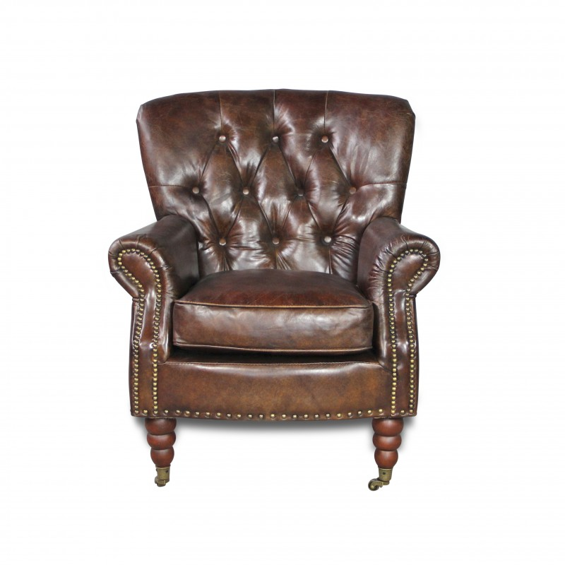 fauteuil chesterfield club anglais cuir vielli marron vintage suisse. Black Bedroom Furniture Sets. Home Design Ideas