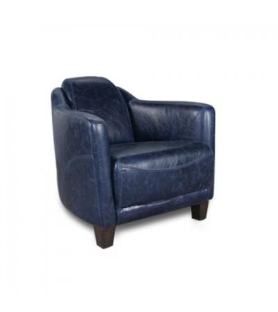 "Blaue Vintage Leder Clubsessel ""Alfred"""