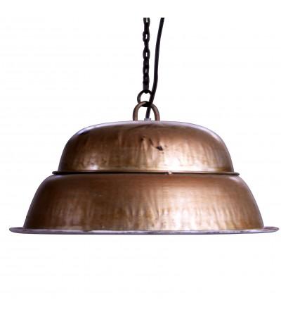 Suspension indus métal couleur cuivre