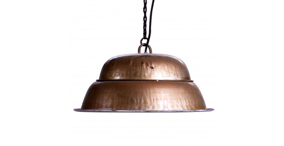 Suspension style industriel métal couleur cuivre