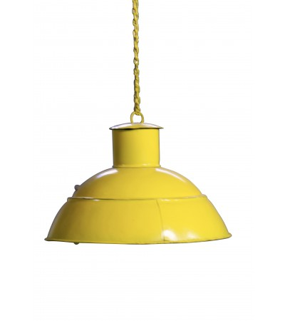 Suspension design industriel métal couleur jaune