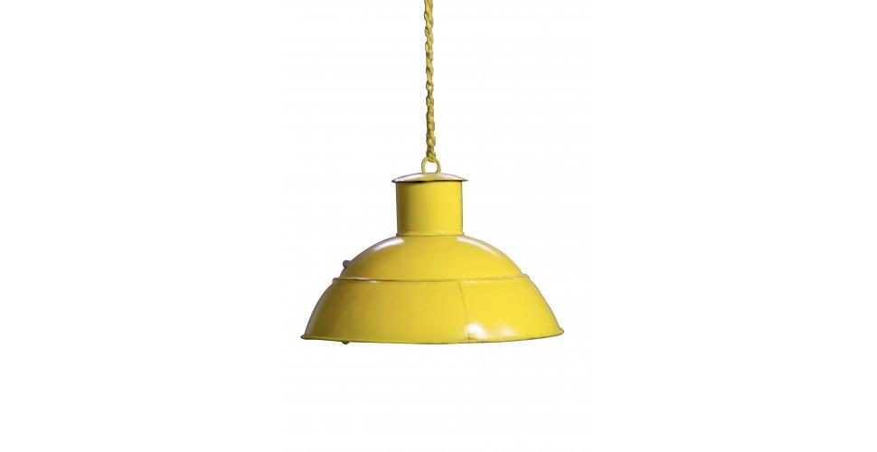Suspension indus métal couleur jaune