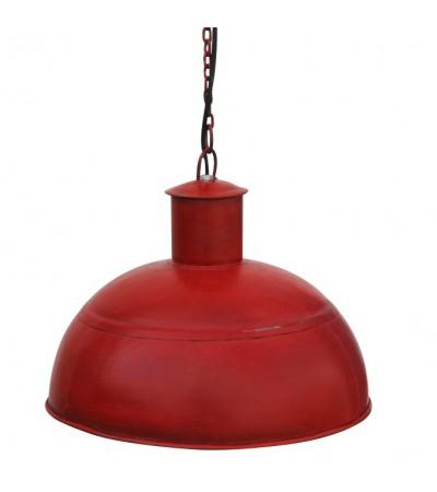 Industriel Design Rote Metall Hängeleuchte