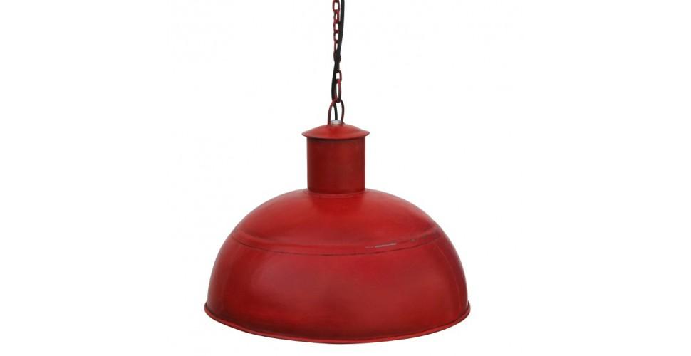 Suspension indus métal rouge