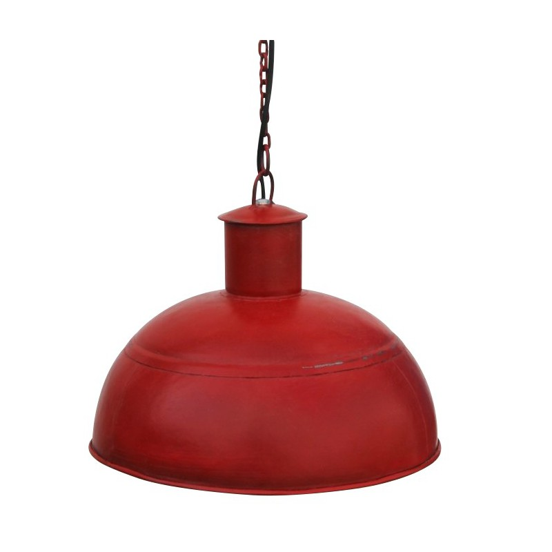 lampe suspension m tal rouge style industriel avec syst me lectrique. Black Bedroom Furniture Sets. Home Design Ideas