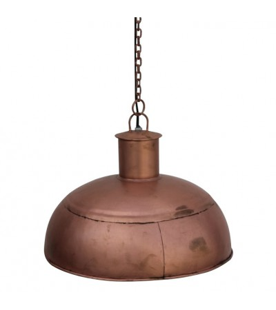 Suspension design industriel métal couleur or rose