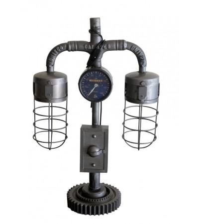 """Lampe vintage style industriel métal antique """"Grisou"""""""
