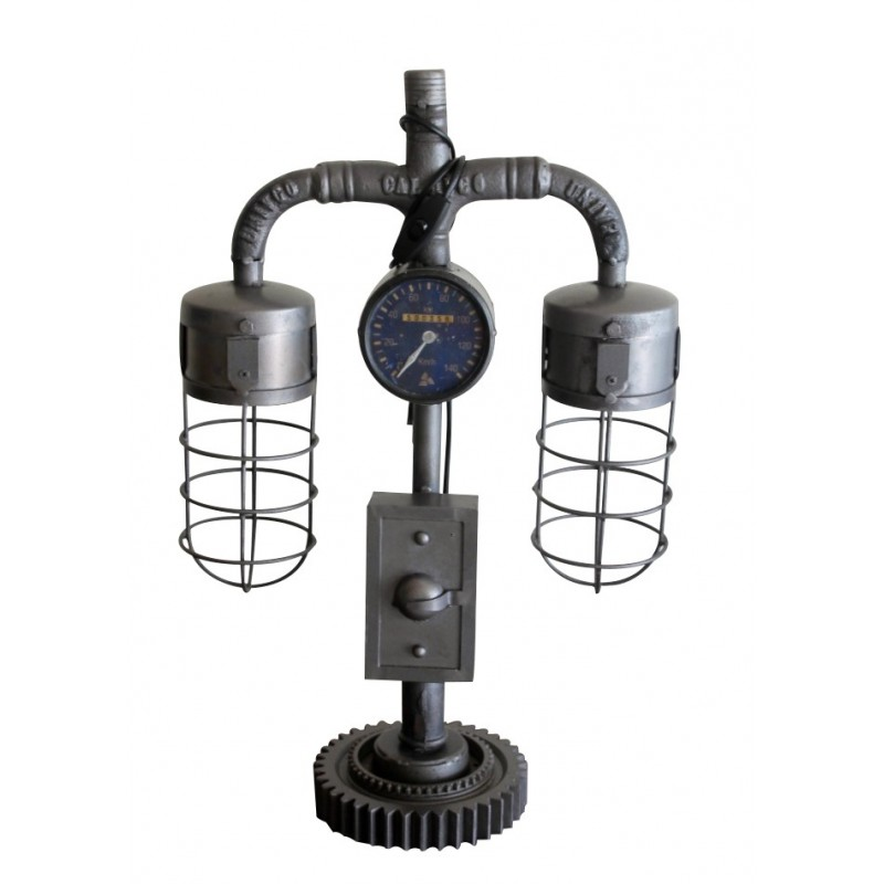 lampe vintage m tal antique style industriel avec syst me lectrique. Black Bedroom Furniture Sets. Home Design Ideas