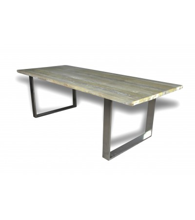 """Table de Repas vintage industrielle """"Austin"""" 240cm"""
