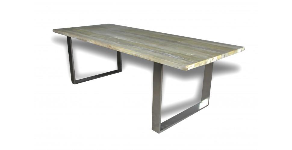 """Table de repas style industriel """"Austin"""" 240 cm, DERNIERE PIECE !"""