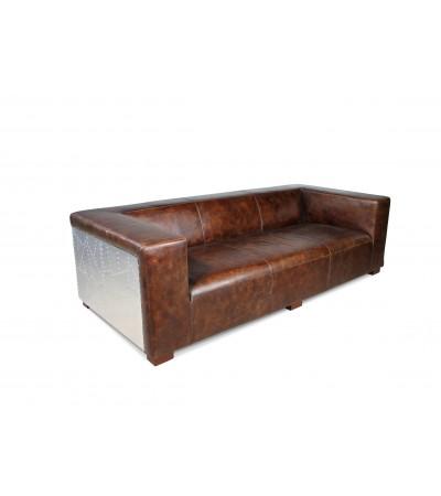 "Sofa Pilot ""Lawrence"" Braun Vintage Leder 4 sitzer"