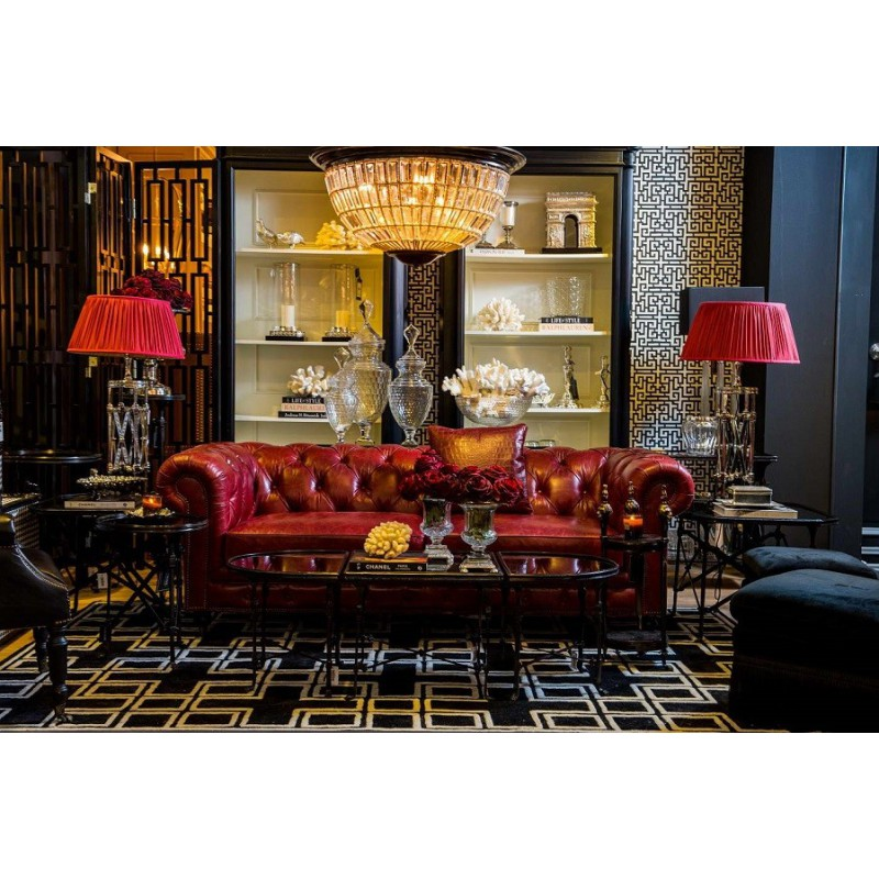 canap chesterfield cuir vintage rouge windsor annuler - Canape Chesterfield Rouge Cuir