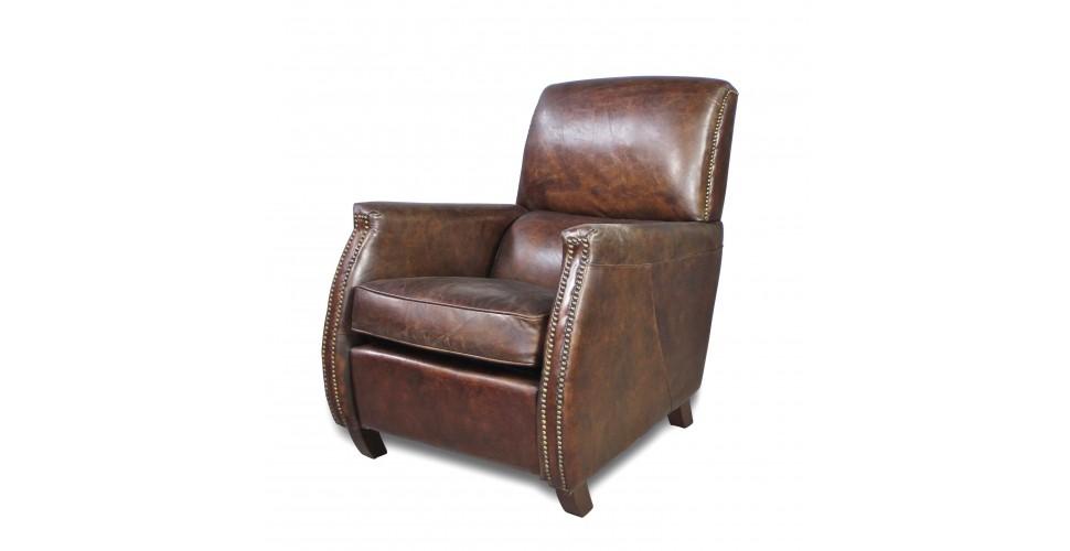 """Braun Vintage Leder Clubsessel """"Harold"""""""