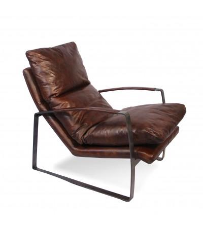 """Braun Vintage Leder Sessel """"Arnold"""""""