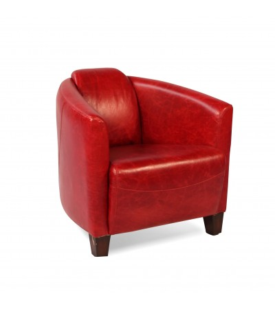 "Rote Vintage Leder Clubsessel ""Bryan"""