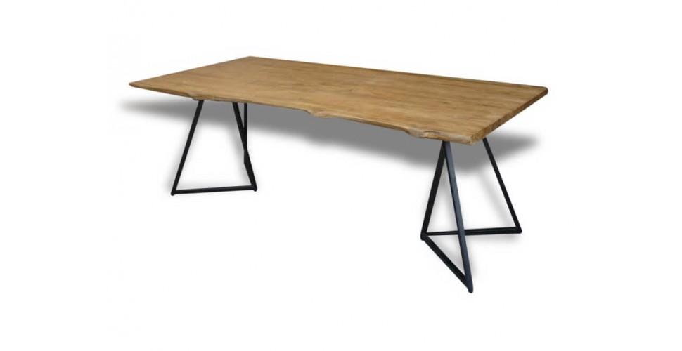 "Table de Repas ""Java"" en bois de teck recyclé massif, 210 cm"