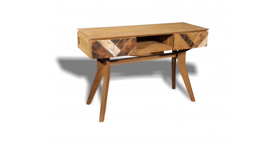 """Console """"Ticao"""" en bois massif coloré de Teck recyclé"""