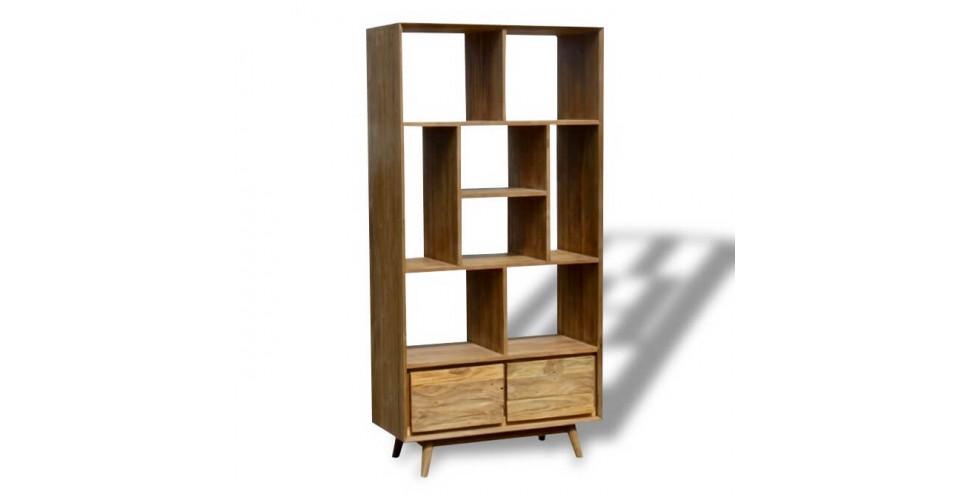 """Etagère, bibliothèque """"Palawan"""" en bois massif de Teck recyclé"""
