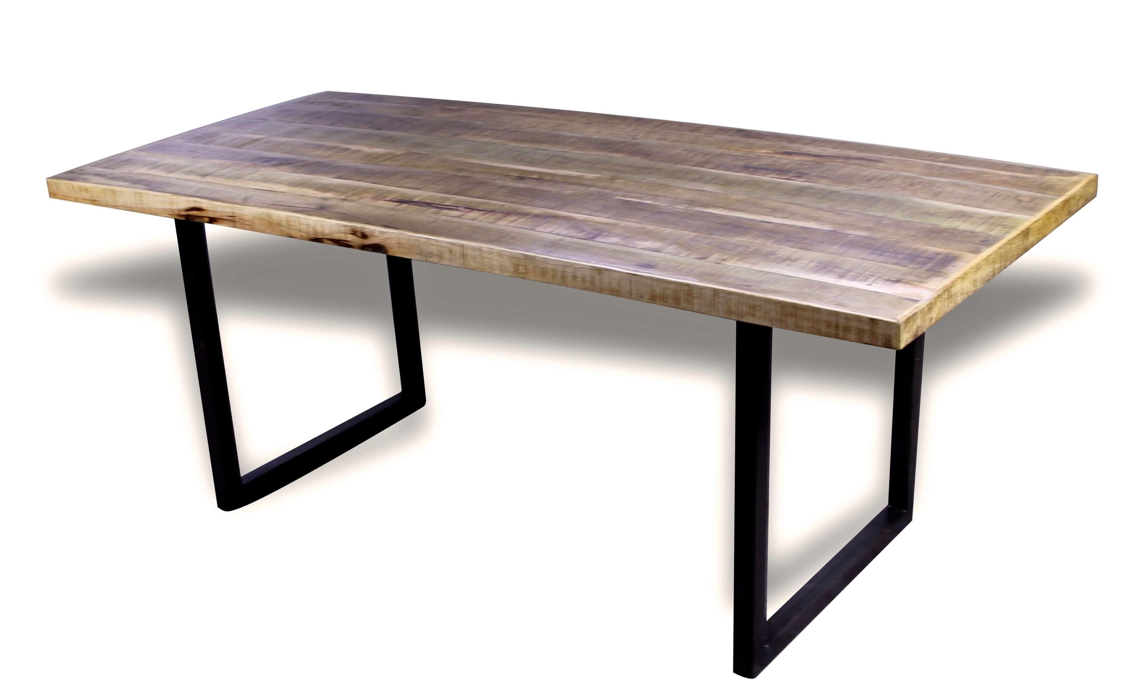 esstisch patinierte holz mango stil industriedachboden. Black Bedroom Furniture Sets. Home Design Ideas