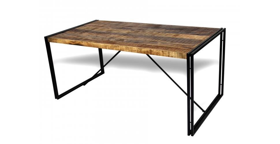 "Table de Repas style industriel ""Arizona"", 170 cm"