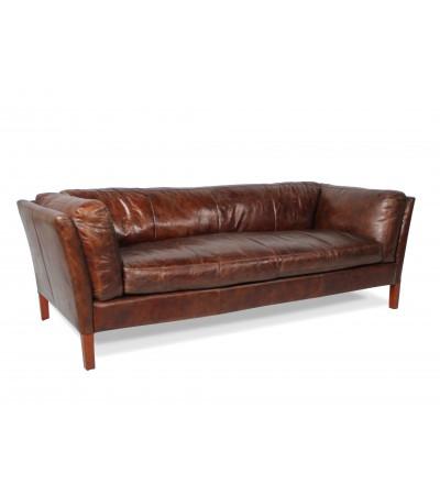 """Sofa """"Clive"""" Braun Leder 3 Plätze"""