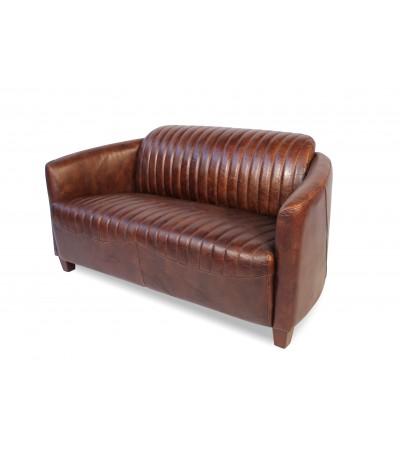 """Sofa """"Alan"""" Braun Vintage Leder 2 Plätze"""