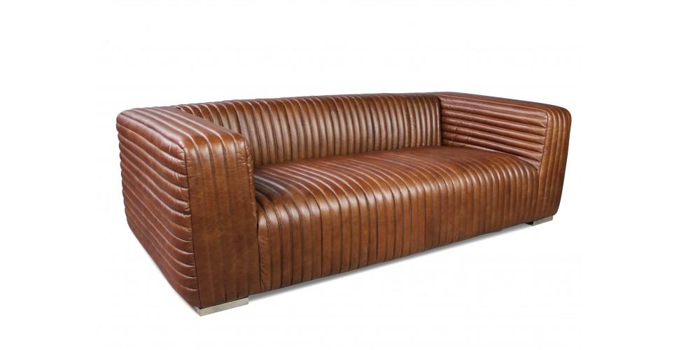 magasin en ligne c6724 69663 Canapé Cuir Marron Vintage 3 places