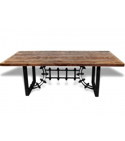 """Table de Repas """"Santa Fe"""" style industriel, 220 cm"""