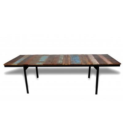 """Table de Repas rallonges, style industriel """"San Diego"""",170 à 262 cm"""