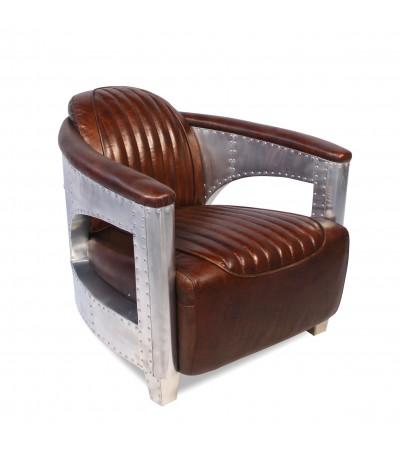 "Aviator Sessel ""Chuck"" Braun Vintage Leder"