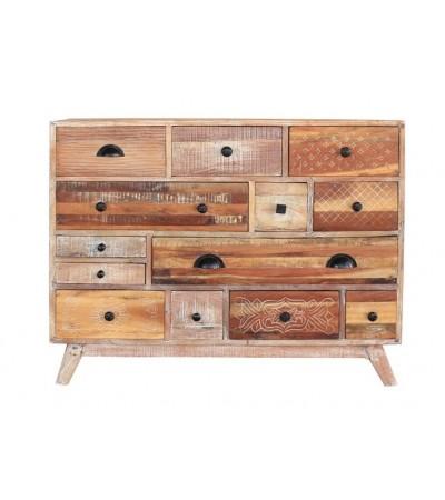 "Vintage ""Matara"" Kommode aus patina Holz Industrie Design"