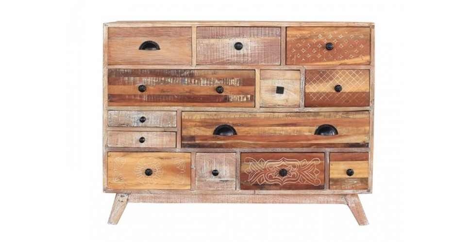 Vintage Kommode In Verwittertem Recycelt Massiv Holz Vintage Geist