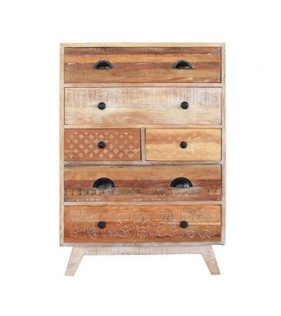 """Commode """"Mirissa"""" en bois recyclé miel style vintage"""