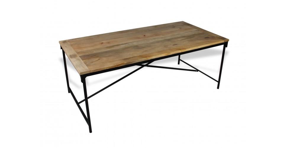 """Table à manger industrielle """"Detroit"""", 200 cm"""