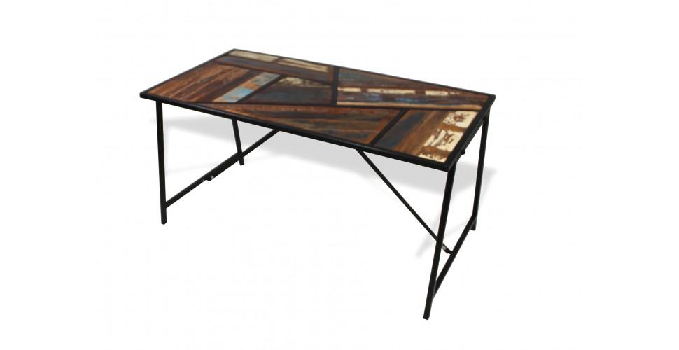 """Table de repas colorée bois et métal """"Manhattan"""", 150 cm"""