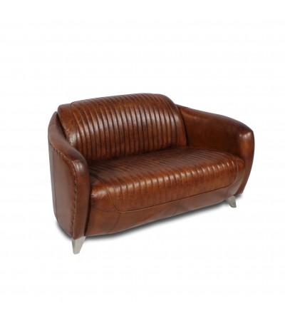 """Sofa """"Kent"""" Braun Vintage Leder 2 Plätze"""