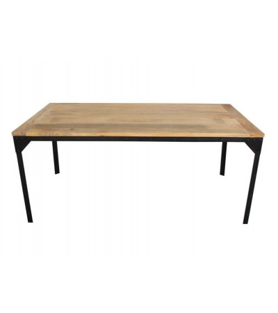 "Table de Repas industrielle ""Rivets"", 170 cm"