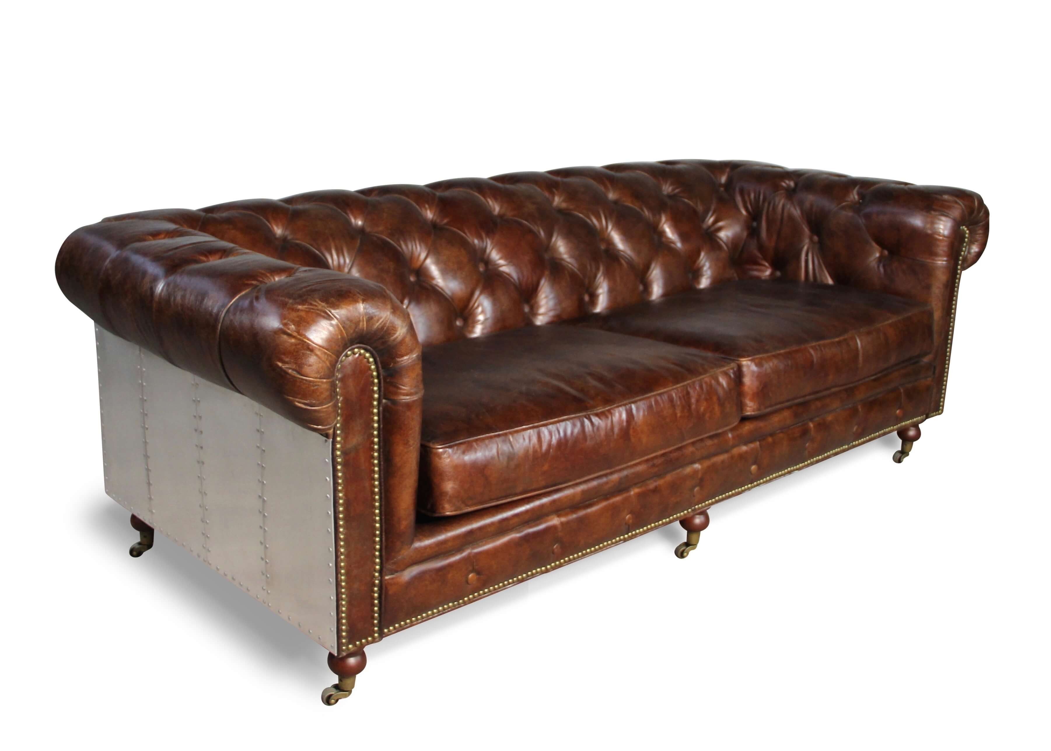 lounge chesterfield in patina braun vintage leder zwei. Black Bedroom Furniture Sets. Home Design Ideas
