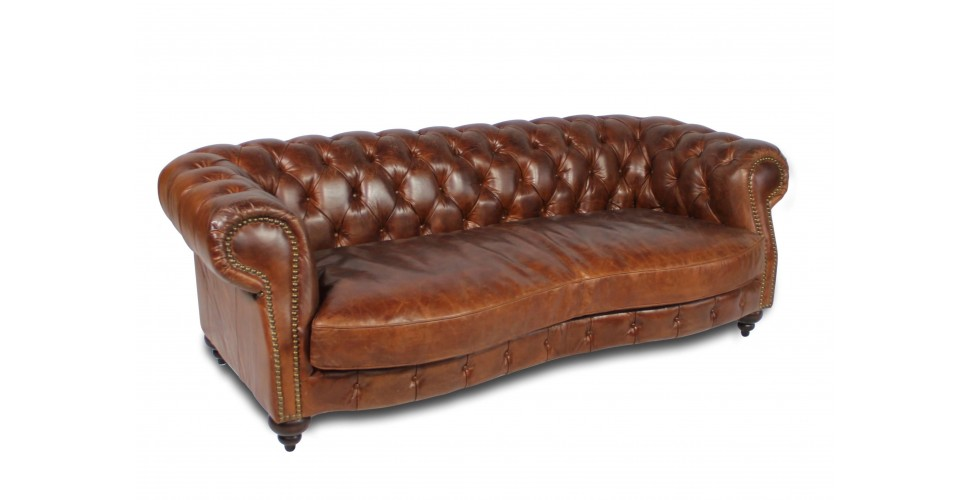 sofa chesterfield in braun patina vintage gepolsterte. Black Bedroom Furniture Sets. Home Design Ideas